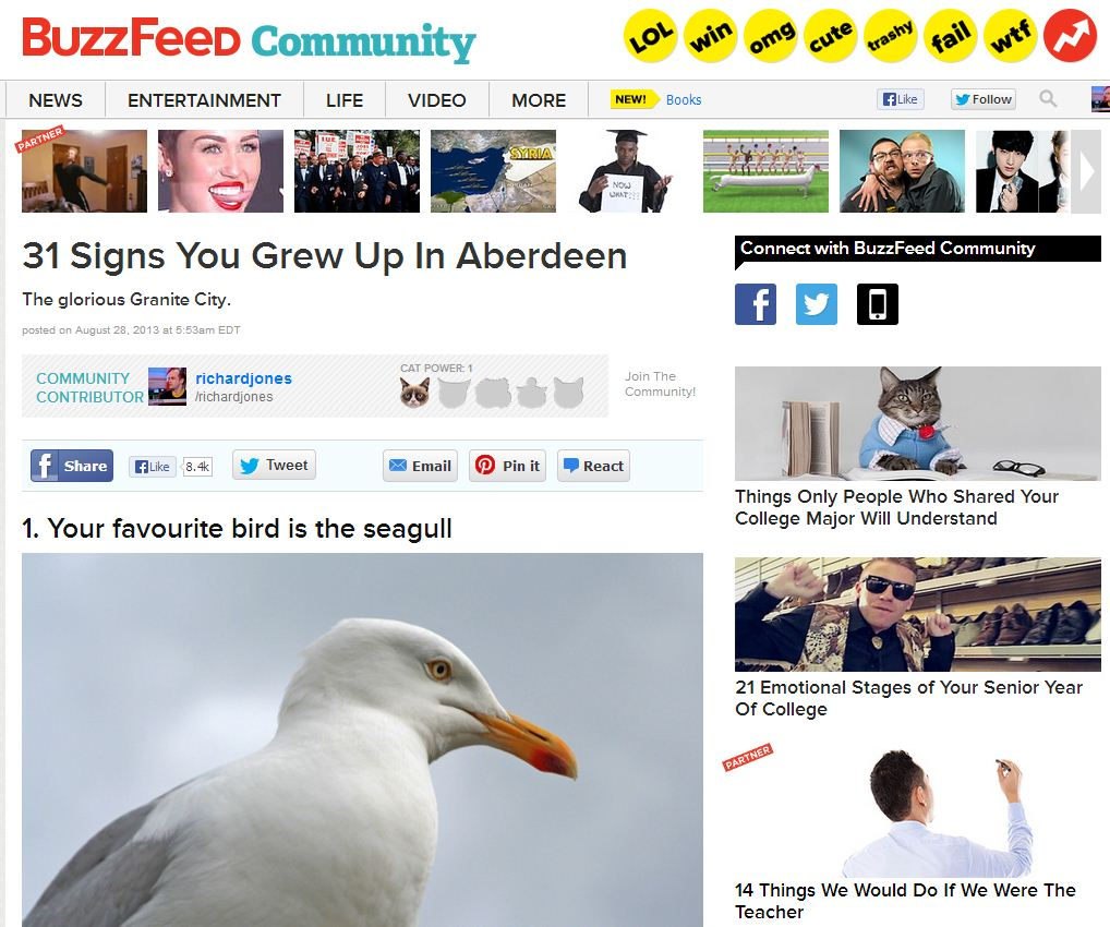 My Buzzfeed opus on Aberdeen.