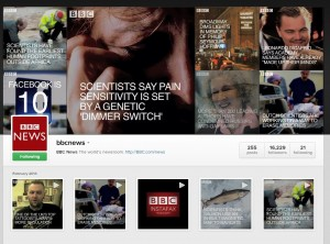 The new Instafax service from BBC News.