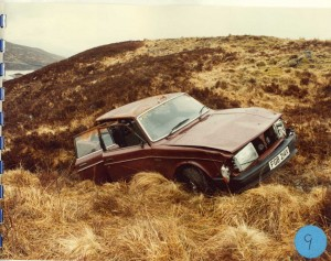 Willie MacRae's crashed car. (picture: Police Scotland via What Do They Know?)
