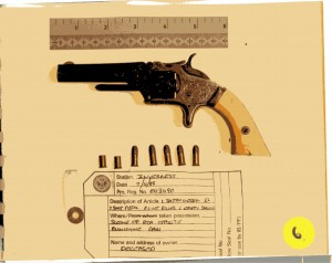 Willie MacRae's gun, recovered from the scene.