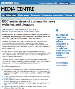 The BBC consultation.
